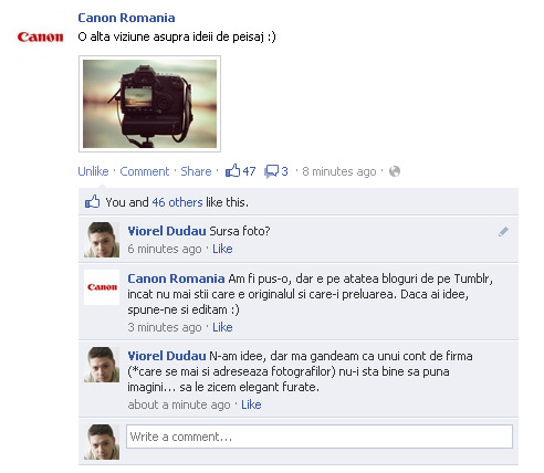 canon romania facebook