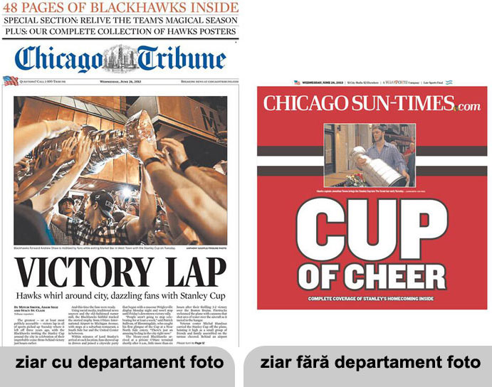 chicago tribune vs chicago sun times