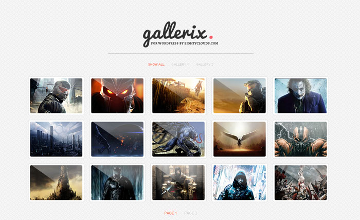 gallerix plugin wordpress foto